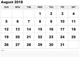 printable calendar 2018 august august 2018 printable calendar pdf template free printable