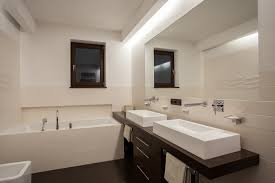 Can Lights In Bathroom Recessed Bathroom Lighting Trellischicago