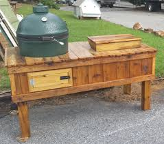 Green Egg Table by Unique Cooler And Green Egg Grill Table