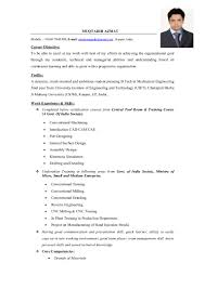 Resume Format Pdf Mechanical Engineering by Resume Mechanical Engineer India Virtren Com
