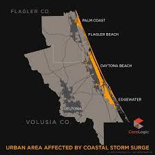 Map Of Daytona Beach 2015 Storm Surge Maps