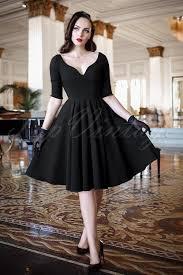 sleeved black dress the bombshell sleeved swing dress in black