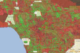 Commute Map The Neighborhoods With The Best And Worst Commutes In La Curbed La
