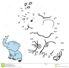 numbers game for children elephant stock vector image 62896958