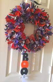 21 best halloween rag wreath images on pinterest halloween