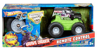 monster jam grave digger rc truck amazon com wheels r c monster jam mini rides grave digger
