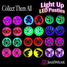 led light up pasties bulk led pasties party pack sasswear