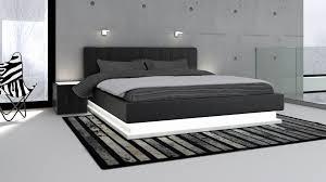lit de chambre a coucher lit moderne élégant impressionnant tete de lit lumineuse led avec