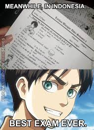 Otaku Meme - exams in indonesia are literally otaku tests by rob lucci meme center