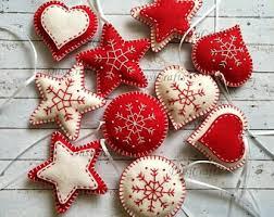 felt ornaments traditional