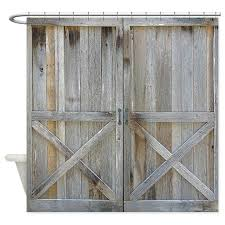 Rustic Shower Curtains Rustic Barn Door Shower Curtain By Rebeccakorpita