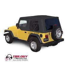 jeep car black sierra offroad jeep wrangler tj soft top 2003 06 in black trilogy