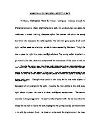 hemingway a clean well lighted place analysis a clean well lighted place by ernest hemingway a level