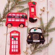 felt great british christmas decorations by the christmas home