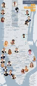 celebrity home addresses the 2014 nyc celebrity star map infographic addressreport blog
