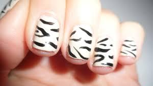 nailificent zebra print nail art
