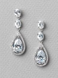 cz rhinestone earrings drop earrings sparkling earrings bridal