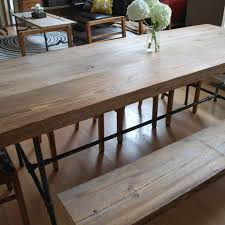 narrow dining table with bench
