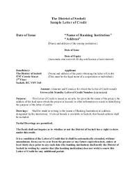 letter of credit sample irrevocable standby letter of credit form