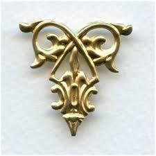 decorative filigree ornament brass 29mm 3