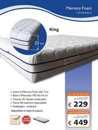 materasso rigido materasso in memory foam alto 23 cm rigido modello king tutte le