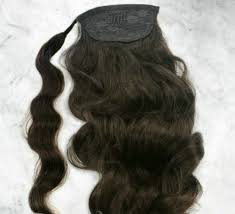 Real Ponytail Hair Extensions by Curly Pony Tail 16inch 120g Wavy Real Hair Extensions Naural Hair