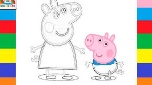 peppa pig coloring pages book peppa pig colouring learn colors