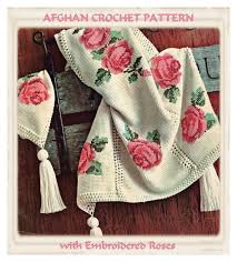 instant download pdf crochet pattern to make a rose bloom cross