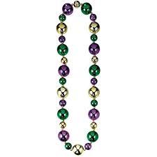 mardi gras bead necklaces amscan big mardi gras necklace costume party