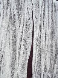 Floor Length Curtains Vintage White Cotton Lace Curtains Pair Floor Length Flat Panels