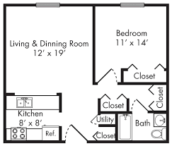 650 square feet house plan two bedroom apartment floor plans one