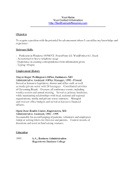 Resume Job Objective Examples Entry Level by Clerical Career Objective Examples