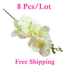 flowers free shipping 2018 wholesale phalaenopsis pu orchid flower real touch 11