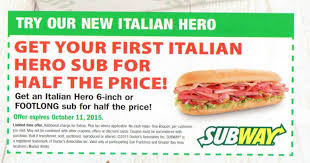 subway buy 1 sub and drink get a free sub 8 99 buyvia