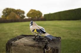 goldfinch handmade recycled metal garden ornament by chi africa