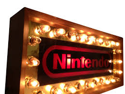 1985 original nintendo store display blinking lights sign combo