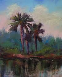 painting my world low country palm trees plein air