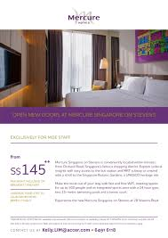 Terms And Conditions For Interior Design Services Mercure Singapore On Stevens Staycation Special Offer Valid Till