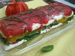 cuisiner des tomates s h s terrine de pressée de tomates poivrons roquette et mozzarella