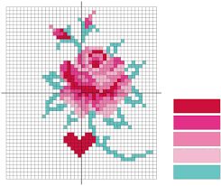 free cross stitch patterns crochet diagram mollie makes
