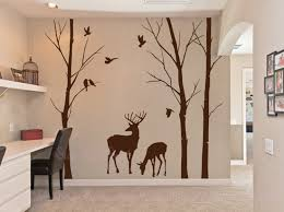 Vinyl Tree Wall Decals For Nursery by Birch Trees Decals Deer Wall Decals Nature Wall By Dreamkidsdecal