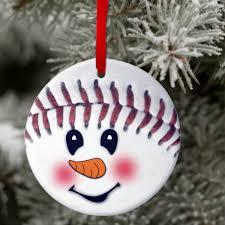 snowman ornament custom baseball snowman christmas ornament gift