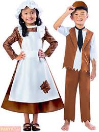 girls boys victorian costume maid servant kids child fancy