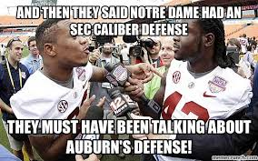 Notre Dame Football Memes - then they said notre dame had an sec caliber defense
