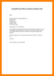 brilliant ideas of acceptance offer thank you letter email in