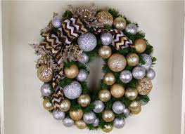 christmas wreath gold and silver chevron designer christmas wreath 30 inch