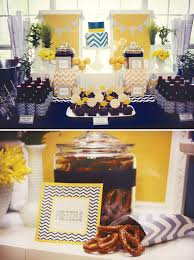 chic navy u0026 yellow chevron graduation party hostess with the