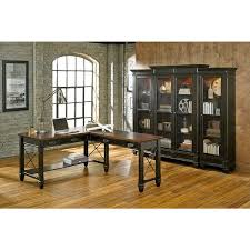 overstock l shaped desk hatherford wood open l shaped desk free shipping today