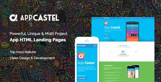 appcastle bootstrap 3 app landing html template by themeregion