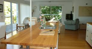 the kitchen bench house by the water